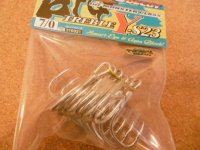 デコイ Y-S23 BIG TREBLE 7/0 (6本入り)